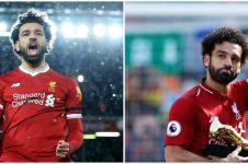 Mo Salah lepas jersey saat selebrasi, viral punya 'sayap malaikat'