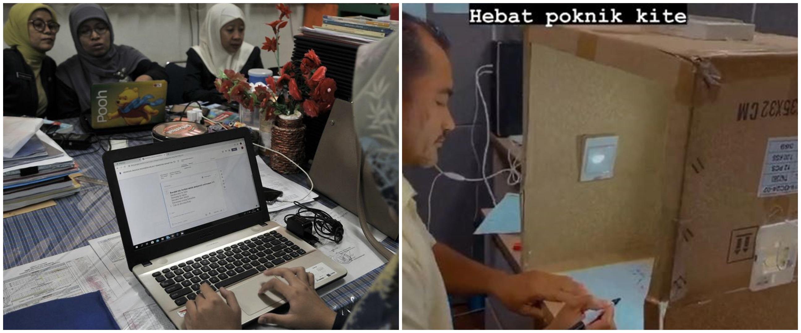 Cara kreatif guru saat mengajar kelas online, bikin mini studio