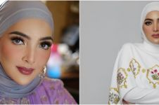 13 Gaya Ashanty saat pakai hijab, cantiknya ala wanita Timur Tengah