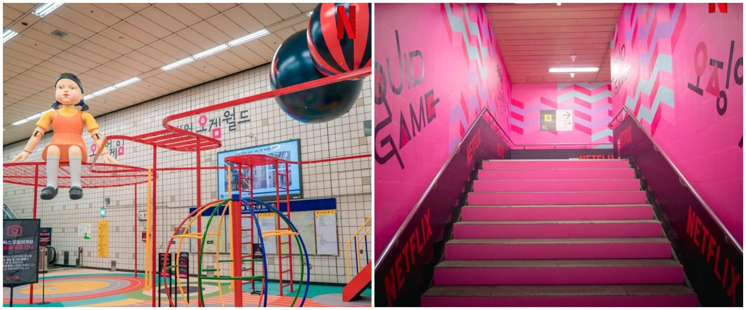 6 Penampakan pop-up playground Squid Game di Itaewon, sedot animo fans