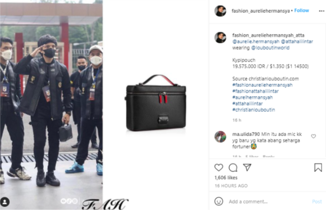 Atta Halilintar pakai tas mewah, bentuknya disebut mirip kotak bekal © berbagai sumber