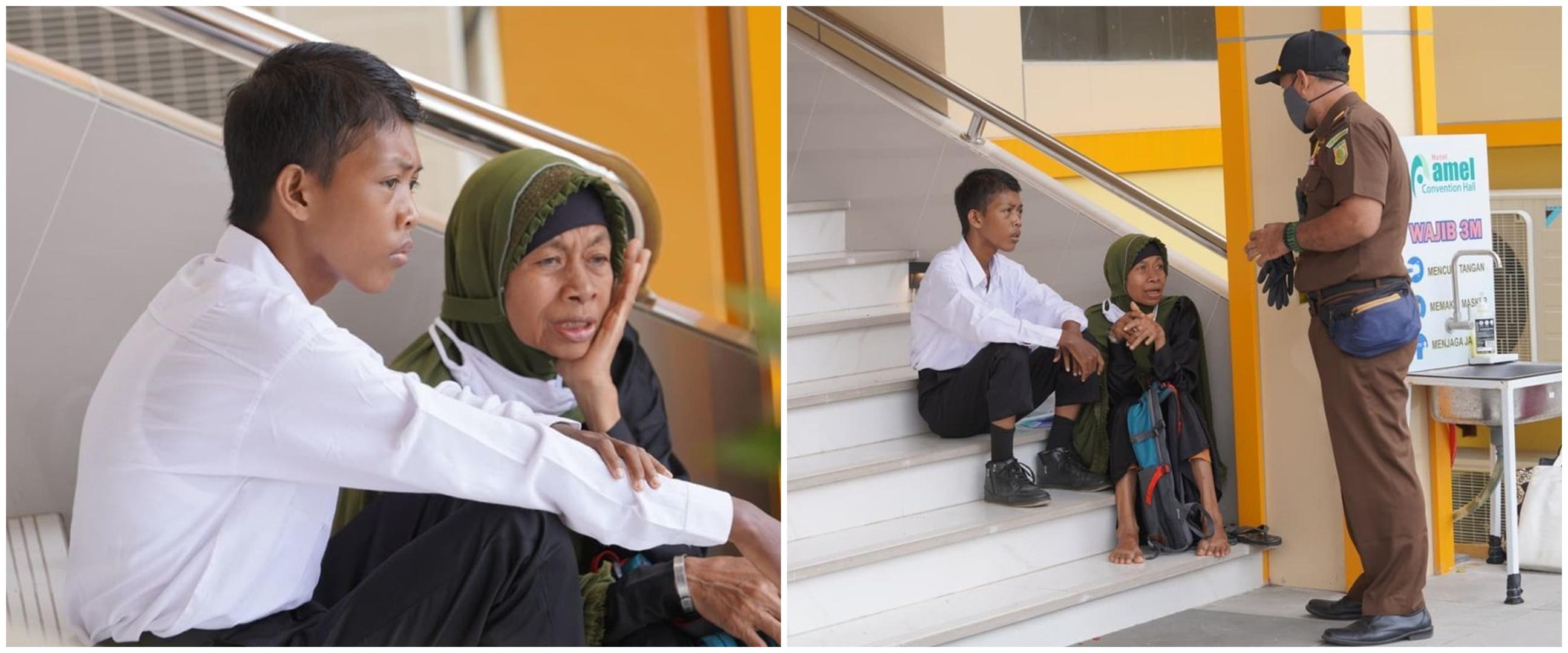 Momen menyentuh ibu temani sang anak tes seleksi CPNS, bikin terharu