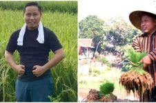 Dari pelawak jadi petani, ini 9 momen Narji bekerja di sawah