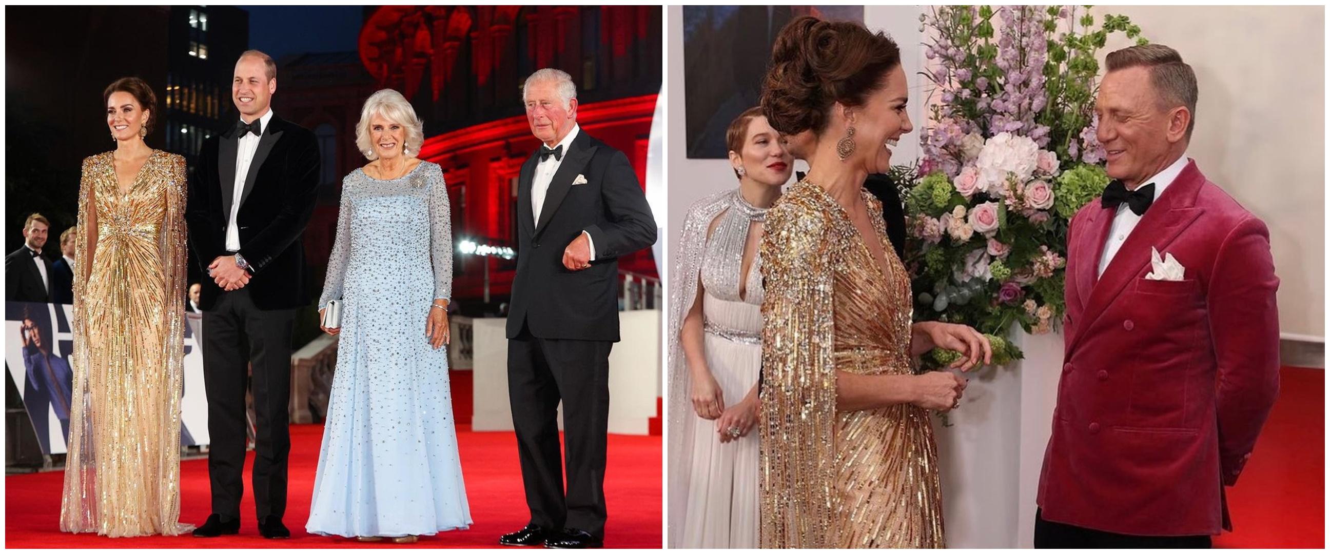 7 Potret Kate Middleton hadiri premier film James Bond, tampil glamor
