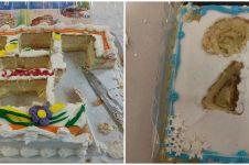 11 Cara nyeleneh potong kue, perfeksionis dijamin geregetan