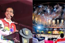 9 Potret kemeriahan pembukaan PON XX Papua, Jokowi main sepak bola