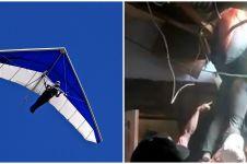Atlet gantole jatuh di atap rumah warga, jalani perawatan intensif