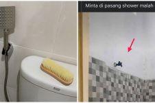 13 Penampakan shower di kamar mandi ini uniknya nggak ada obat