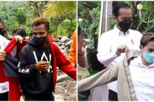 5 Momen warga dapat jaket dari Jokowi, kenangan tak terlupakan