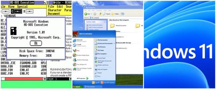 36 Tahun berjaya, ini 15 transformasi Windows dari versi 1 hingga 11