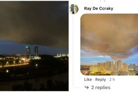 Gumpalan awan hitam gemparkan warga Malaysia, intip penampakannya