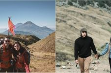 Momen 7 pasangan seleb mendaki gunung, Ammar Zoni daki Gunung Gede