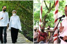 5 Momen keakraban Jokowi dan Sedah Mirah, gowes bareng keliling istana