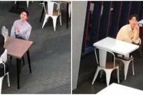 Aksi cewek terciduk makan di resto bareng 'Kim Seon Ho' bikin geleng