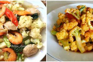 11 Resep tumis kembang kol, solusi masak cepat, sehat, dan enak