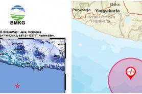Gempa magnitudo 4.8 guncang pesisir Jogja, terasa hingga Jawa Timur