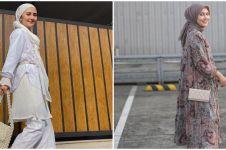 Modis berhijab, ini 9 mix dan match outfit Rara Nawangsih 'ibu Andin'