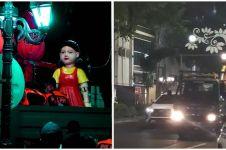 Picu kerumunan, boneka Squid Game di Surabaya diangkut satpol PP