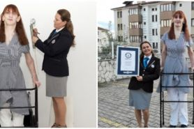 Pecahkan rekor, sosok ini dua kali menjadi wanita tertinggi dunia