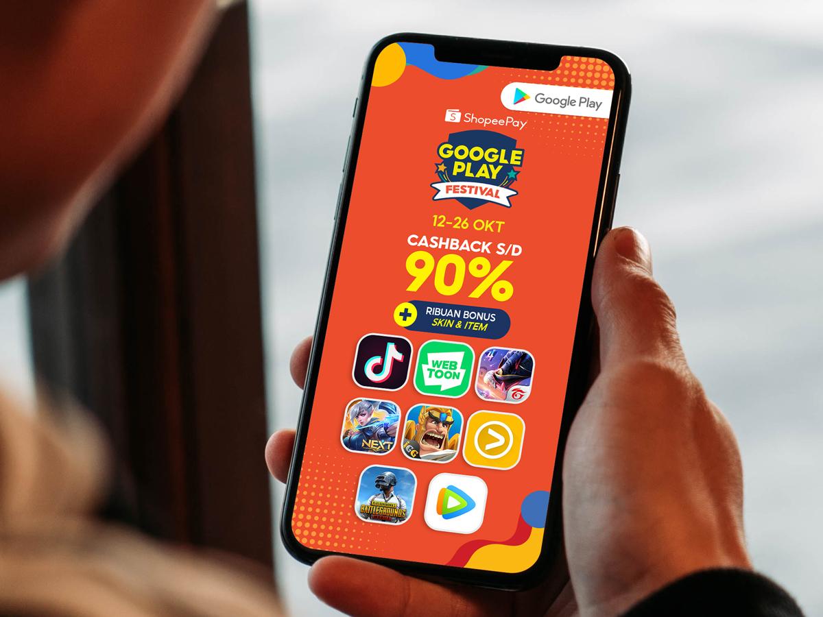 Hadirkan Google Play Festival, ShopeePay beri cashback hingga 90%
