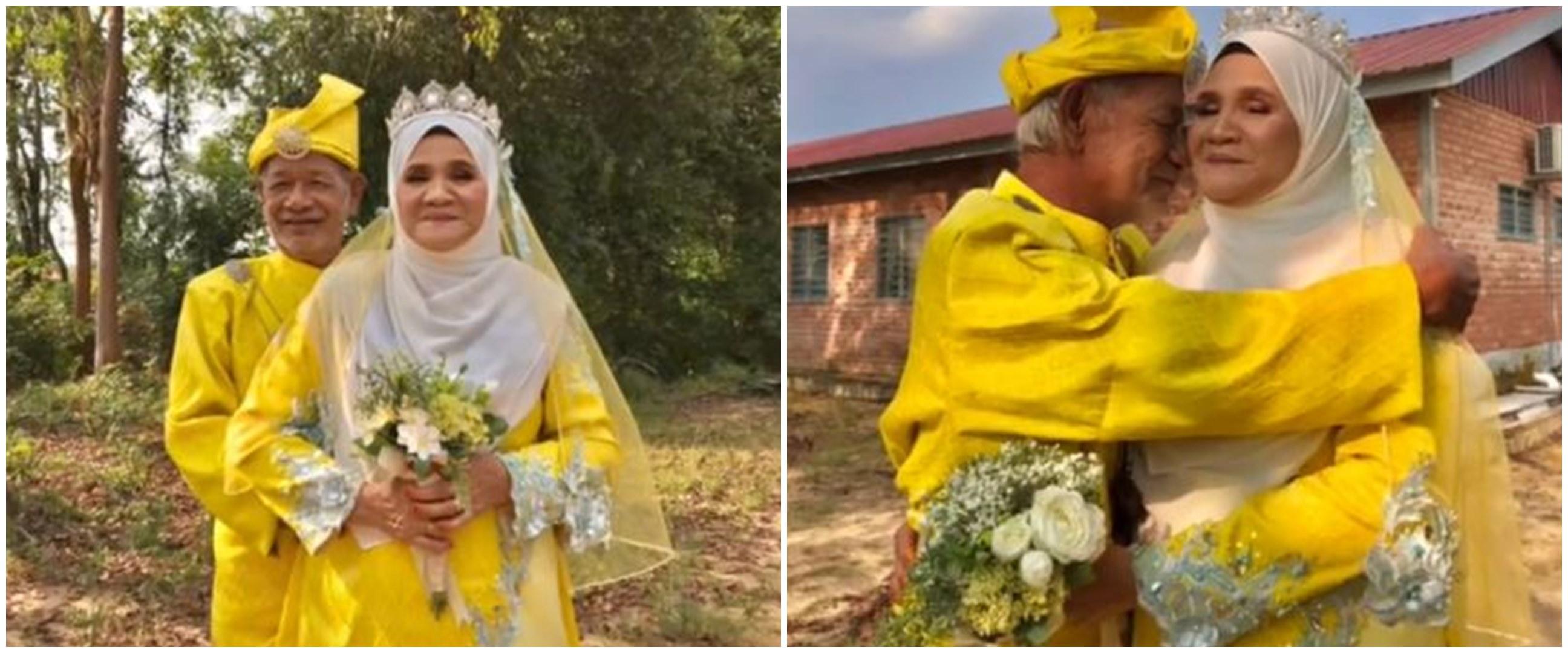 Rayakan anniversary ke-53, pasangan ini dandan pakai baju pengantin