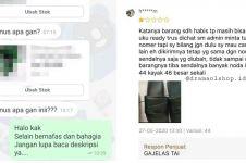 9 Chat penjual online shop tanggapi pembeli ini lucunya ngena ke hati