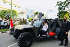 Jokowi tumpangi kendaraan taktis di Tarakan, ini kelebihan rantis