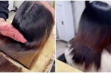 Aksi wanita potong rambut pakai kapak, hasilnya tak terduga