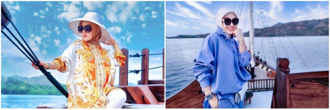 Taksiran harga 9 fashion item Syahrini liburan di Labuan Bajo, mewah