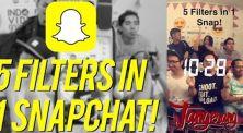 5 Filter Dalam 1 Snapchat? Simak Tutorialnya di Sini!