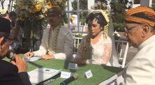 Video Streaming Pernikahan Benakribo & Vendyana, Pakai Kamera 360˚!