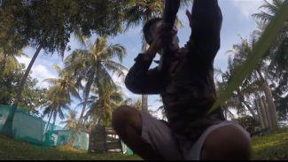 Main Airsoft Gun di Pulau Tidung, Tempat Indah Penuh Pohon Kelapa