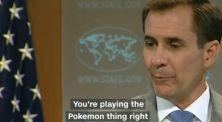 Reporter Kepergok Main Pokemon Go Saat Jumpa Pers Pejabat AS