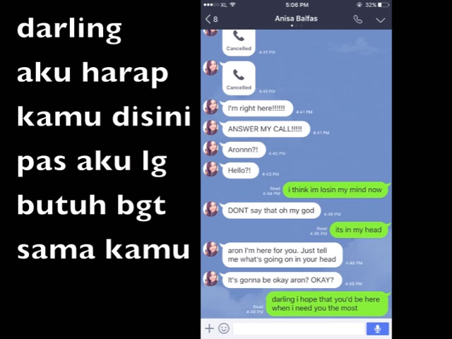 Aron Ashab prank text mantan pacar © 2016 famous.id