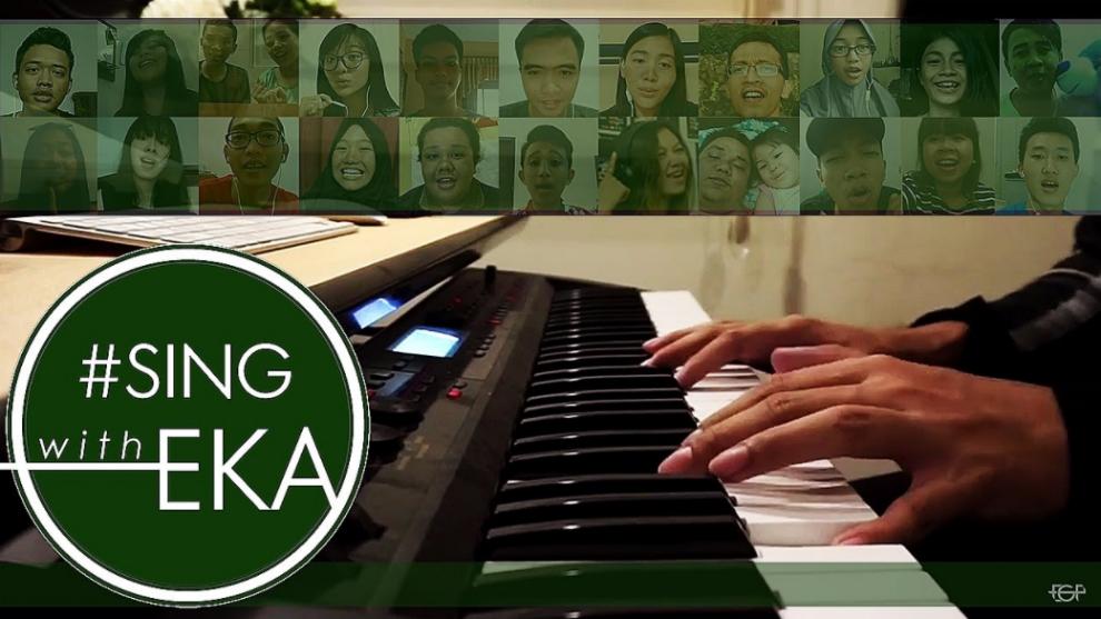 Kolaborasi Epic Eka Gustiwana Bersama Subscribers Dalam #SingWithEka
