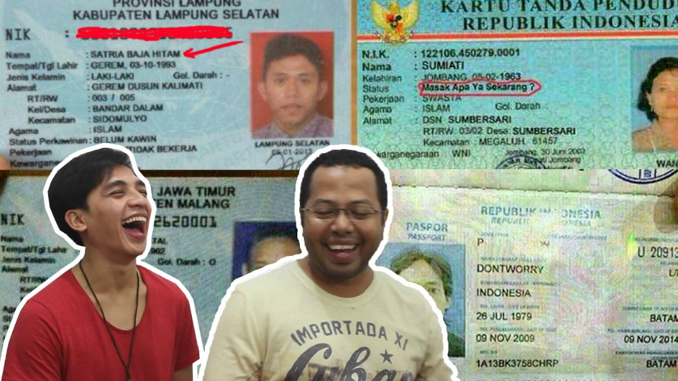 Kocak! 18 Nama Anti Mainstream Ini Cuma Ada di Indonesia