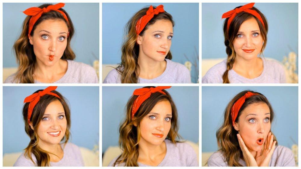 Six DIY 1-Minute Bandana Hairstyles Cute Girls Hairstyles © Cute Girls Hairstyles