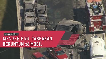 Mengerikan, tabrakan beruntun 36 mobil