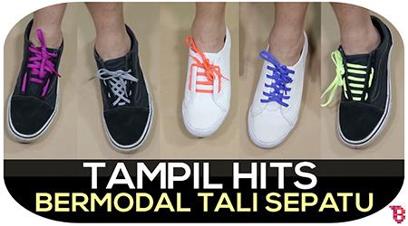 Cara mengikat tali sepatu keren, hits, dan anti mainstream
