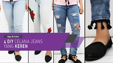 4 DIY celana jeans yang keren