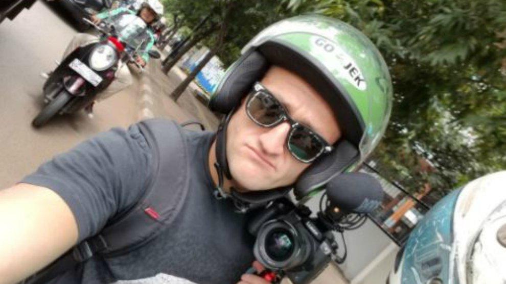 Demi Menerobos Kemacetan Jakarta, Casey Neistat Naik Ojol © twitter casey neistat