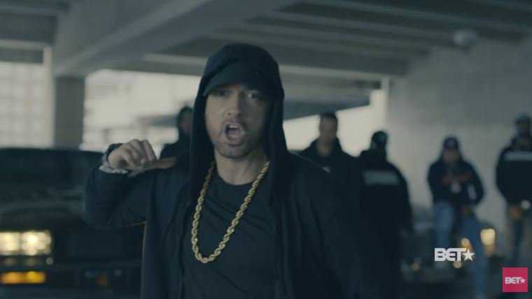Eminem Rips Donald Trump In BET Hip Hop Awards Freestyle Cypher bet network © bet network