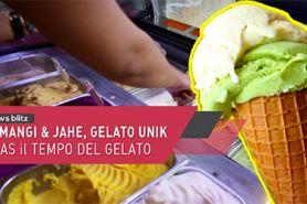 Kemangi & jahe, gelato unik khas Il Tempo Del Gelato