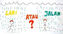 Coba Tebak, Lebih Cepat Basah Ketika Lari Atau Berjalan Saat Hujan?