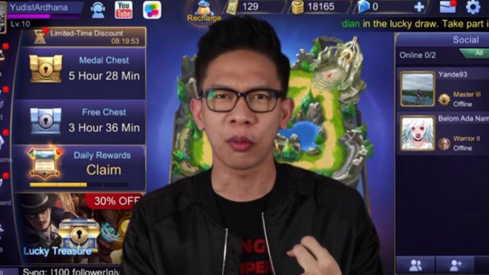 Masih Cupu! YouTuber Bali Ini Baru Belajar Main Mobile Legends