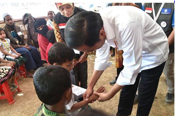 jkw rohingya © Instagram/@sekretariat.kabinet dan @jokowi