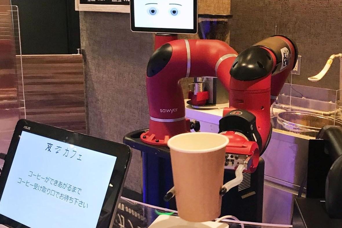 Beli kopi di kafe ini kamu bakal dilayani barista robot