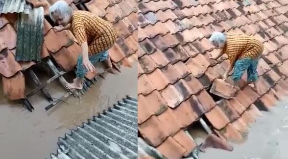 Perjuangan nenek selamatkan diri saat banjir Jakarta ini bikin iba
