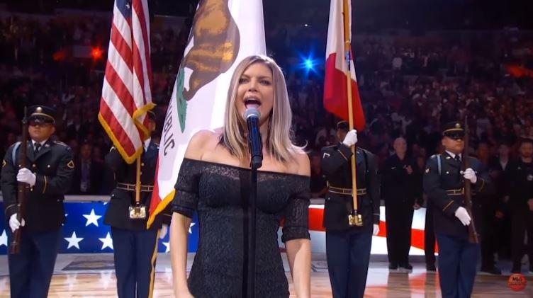 Fergie Performs The U.S. National Anthem 2018 NBA All-Star Game mlg highlight © mlg highlight