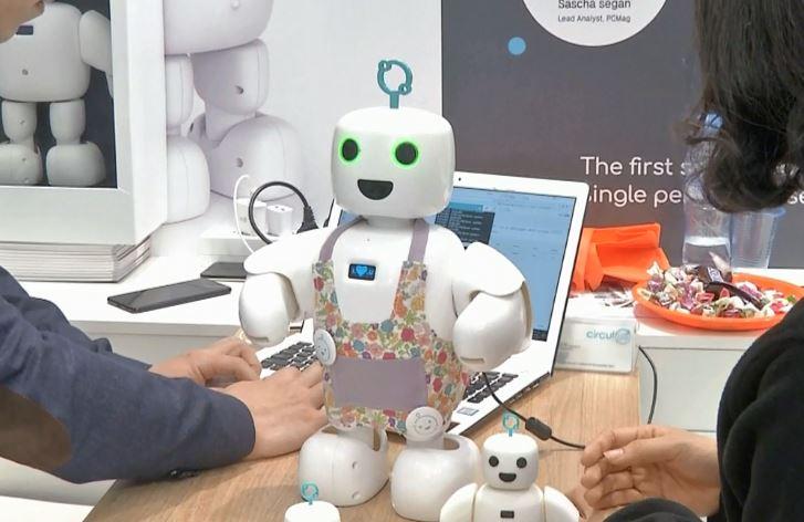 Robot piBo yang lucu cocok jadi sahabat anak kecil